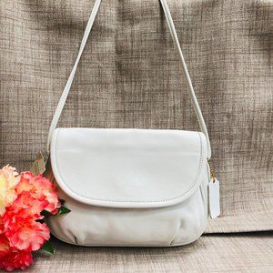 Vintage NWT Coach Cafe Bag in White Leather #4111